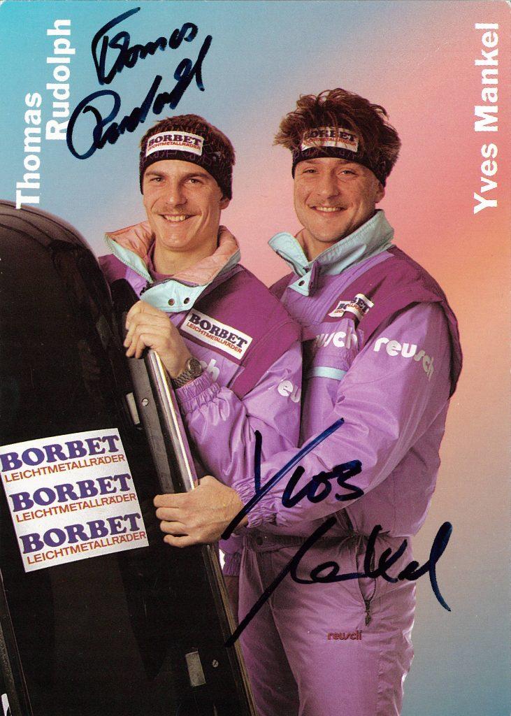 Ives und Mankel Autogrammkarte WM 1991